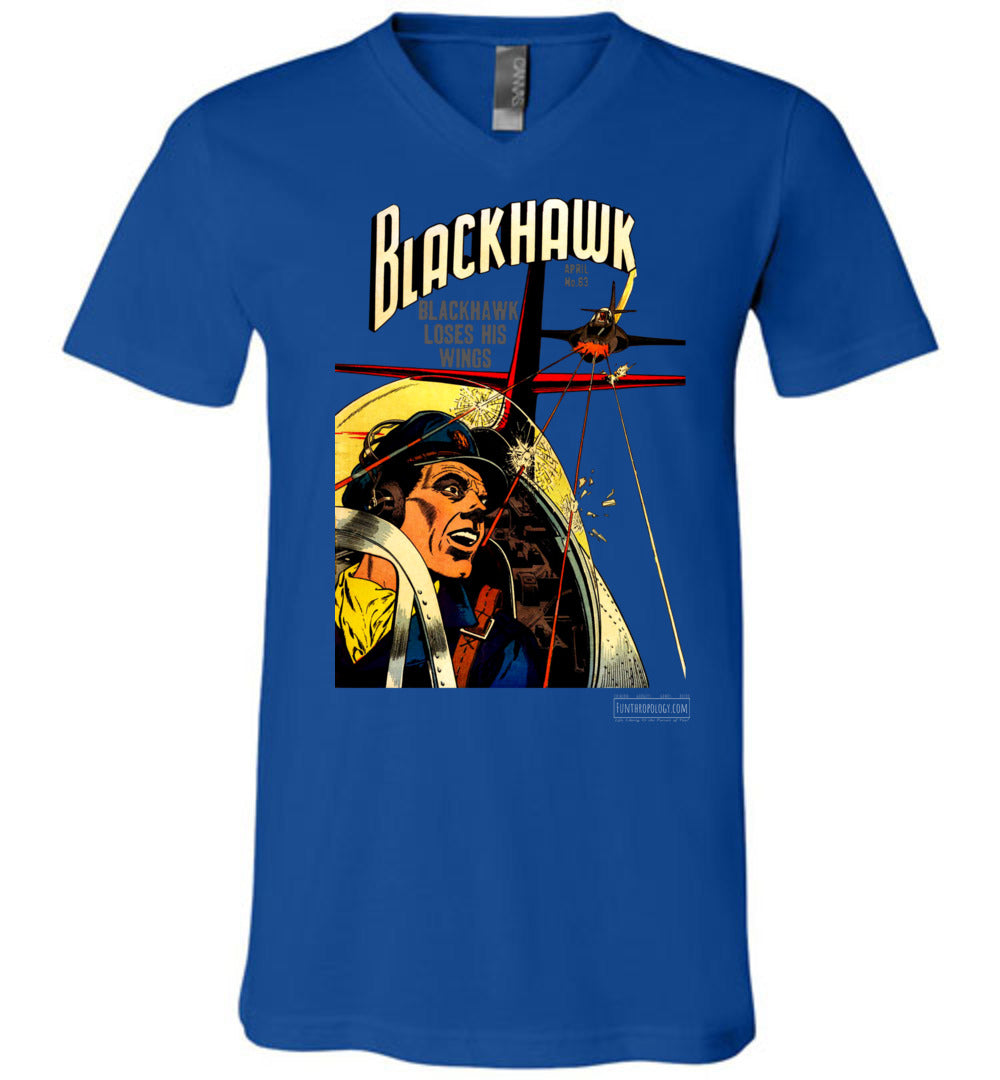Blackhawk No.63 V-Neck (Unisex, Dark Colors)