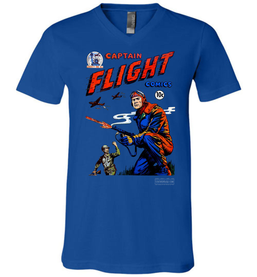 Captain Flight No.3 V-Neck (Unisex, Dark Colors)