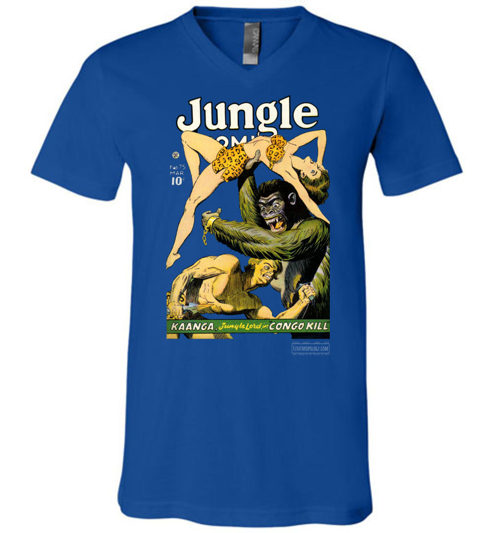 Jungle Comics No.75 V-Neck (Unisex, Dark Colors)