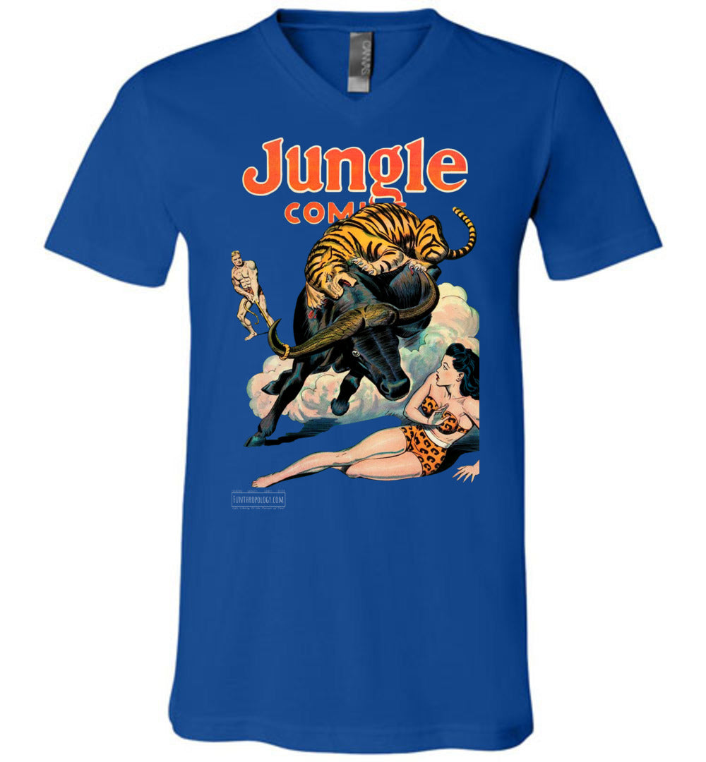 Jungle Comics No.84 V-Neck (Unisex, Dark Colors)