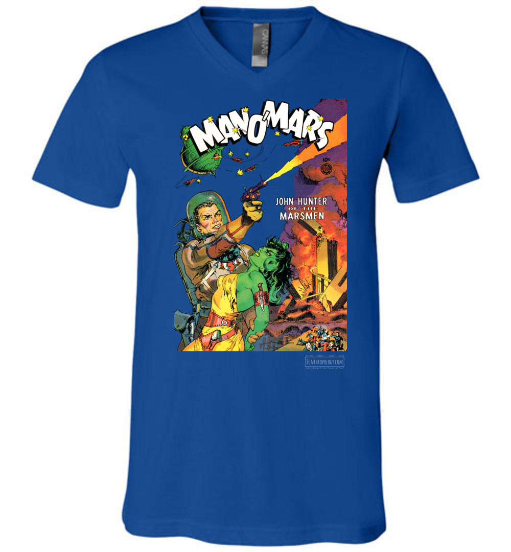Man O'Mars No.1 V-Neck (Unisex, Dark Colors)
