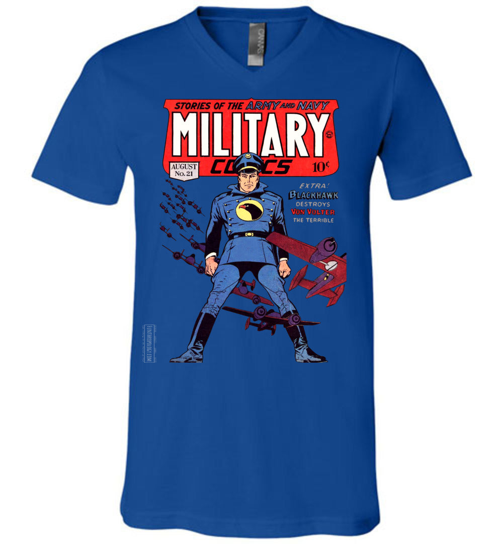 Military Comics No.21 V-Neck (Unisex, Dark Colors)