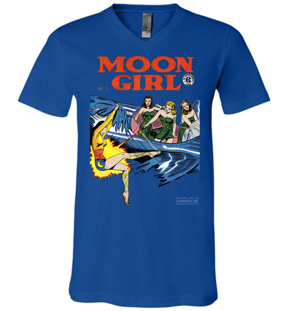 Moon Girl No.5 V-Neck (Unisex, Dark Colors)