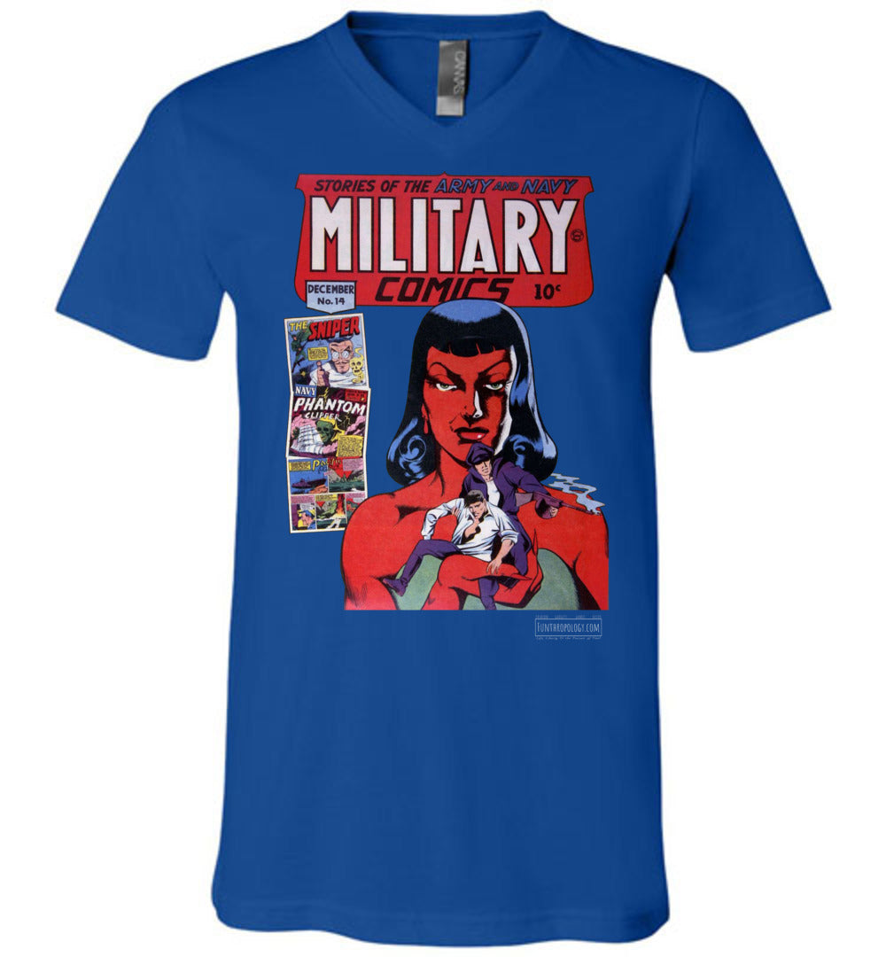 Military Comics No.14 V-Neck (Unisex, Dark Colors)