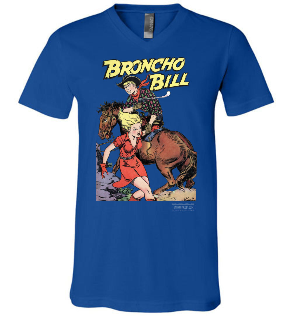 Broncho Bill No.6 V-Neck (Unisex, Dark Colors)