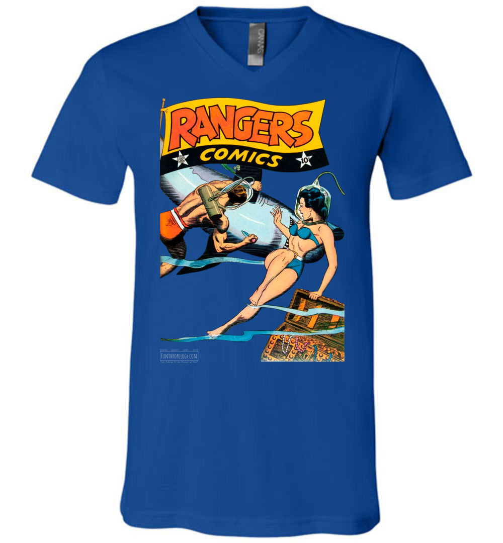 Rangers Comics No.33 V-Neck (Unisex, Dark Colors)
