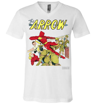 The Arrow No.3 V-Neck (Unisex, Light Colors)