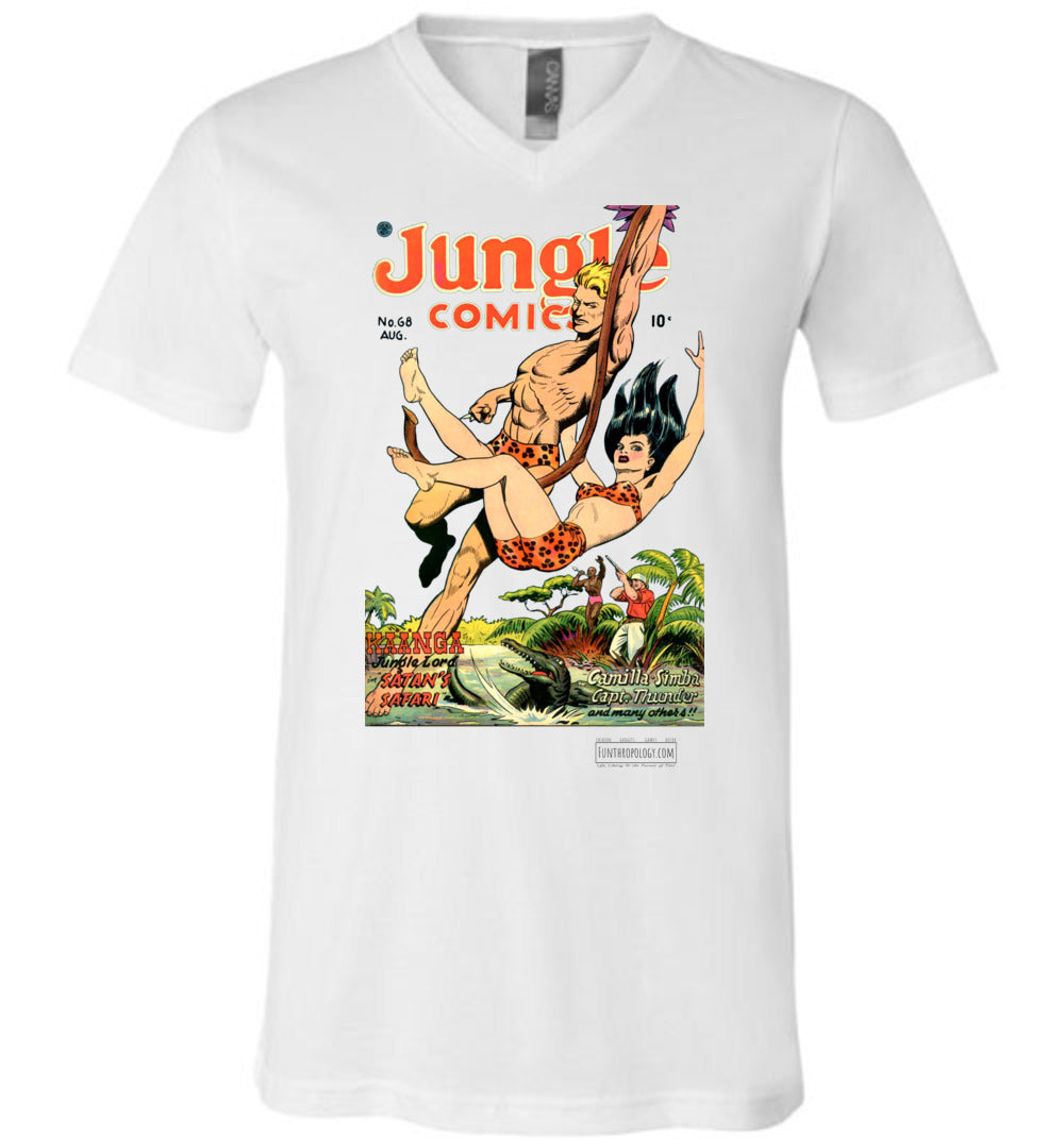Jungle Comics No.68 V-Neck (Unisex, Light Colors)