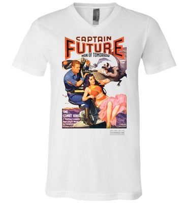 Captain Future No.11 V-Neck (Unisex, Light Colors)