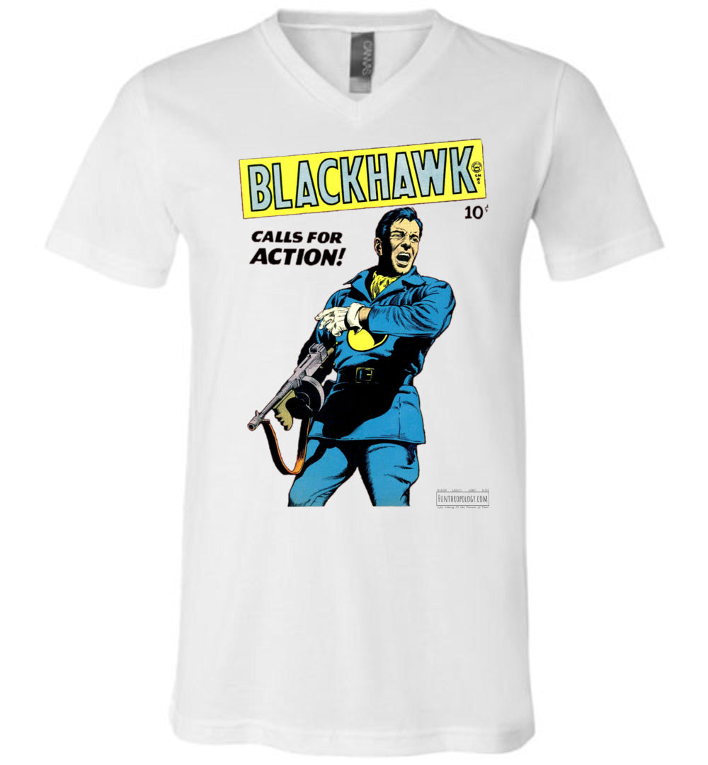 Blackhawk No.19 V-Neck (Unisex, Light Colors)