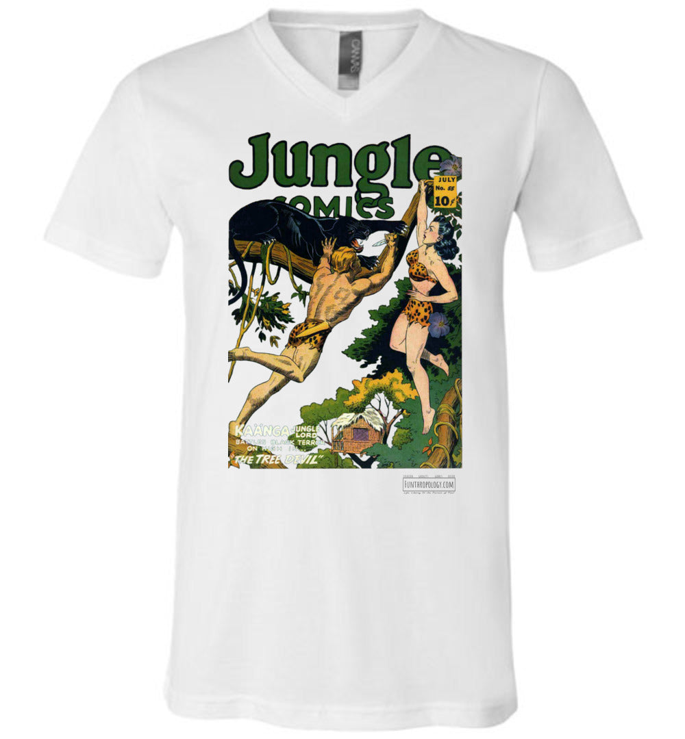 Jungle Comics No.55 V-Neck (Unisex, Light Colors)