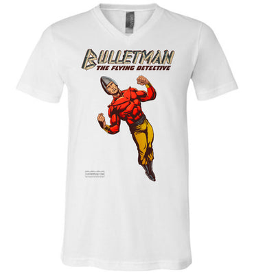 Bulletman Reimagined V-Neck (Unisex, Light Colors)