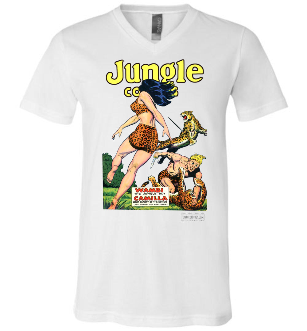 Jungle Comics No.123 V-Neck (Unisex, Light Colors)
