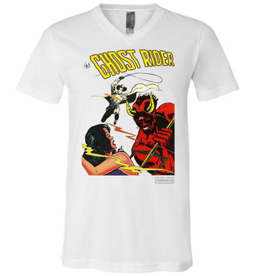 The Ghost Rider No.12 V-Neck (Unisex, Light Colors)
