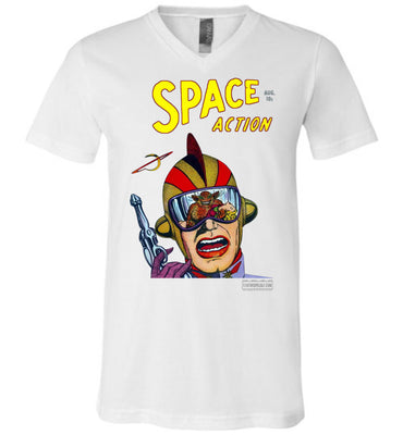 Space Action No.2 V-Neck (Unisex, Light Colors)