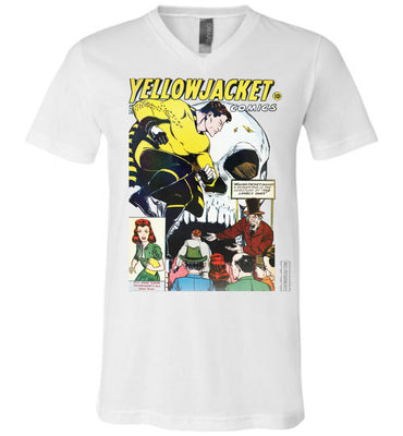 Yellowjacket No.7 V-Neck (Unisex, Light Colors)