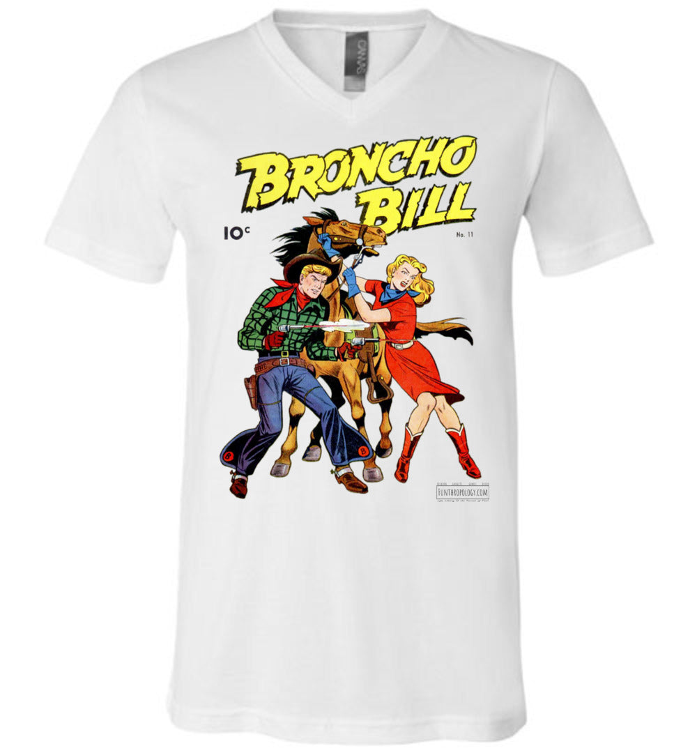 Broncho Bill No.11 V-Neck (Unisex, Light Colors)