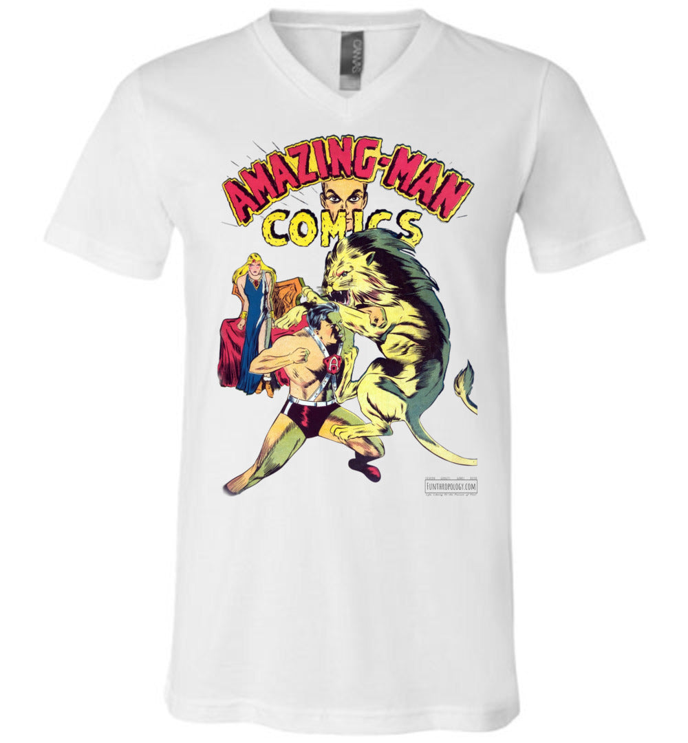 Amazing-Man Comics No.14 V-Neck (Unisex, Light Colors)