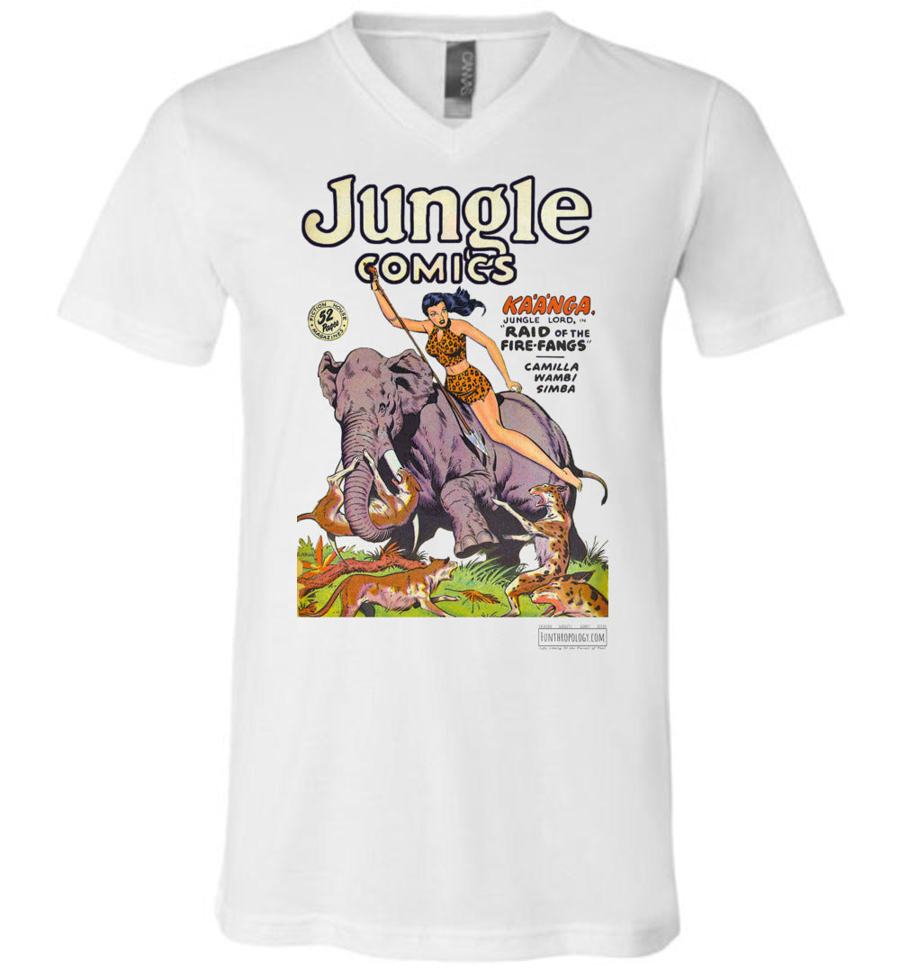 Jungle Comics No.110 V-Neck (Unisex, Light Colors)