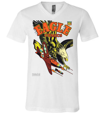 Eagle Comics No.1 V-Neck (Unisex, Light Colors)