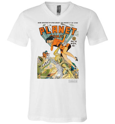 Planet Comics No.15 V-Neck (Unisex, Light Colors)
