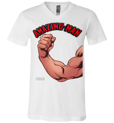 Amazing-Man Strength V-Neck (Unisex, Light Colors)
