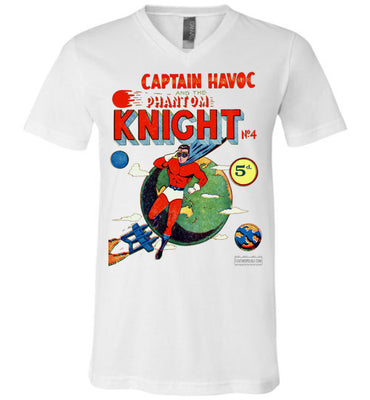 The Phantom Knight No.4 V-Neck (Unisex, Light Colors)