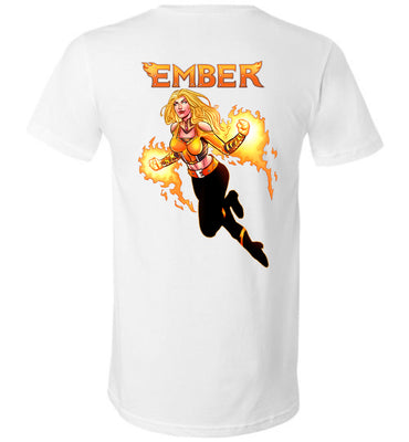 Capes & Chaos Ember V-Neck (Unisex)