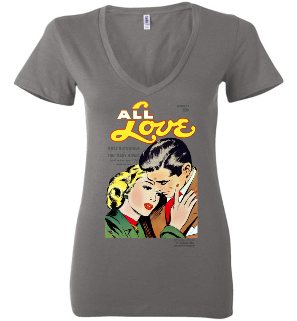 All Love No.30 V-Neck (Womens, Light Colors)