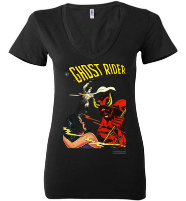 The Ghost Rider No.12 V-Neck (Womens, Dark Colors)