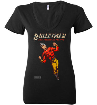 Bulletman Reimagined V-Neck (Womens, Dark Colors)