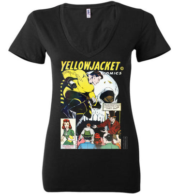 Yellowjacket No.7 V-Neck (Womens, Dark Colors)