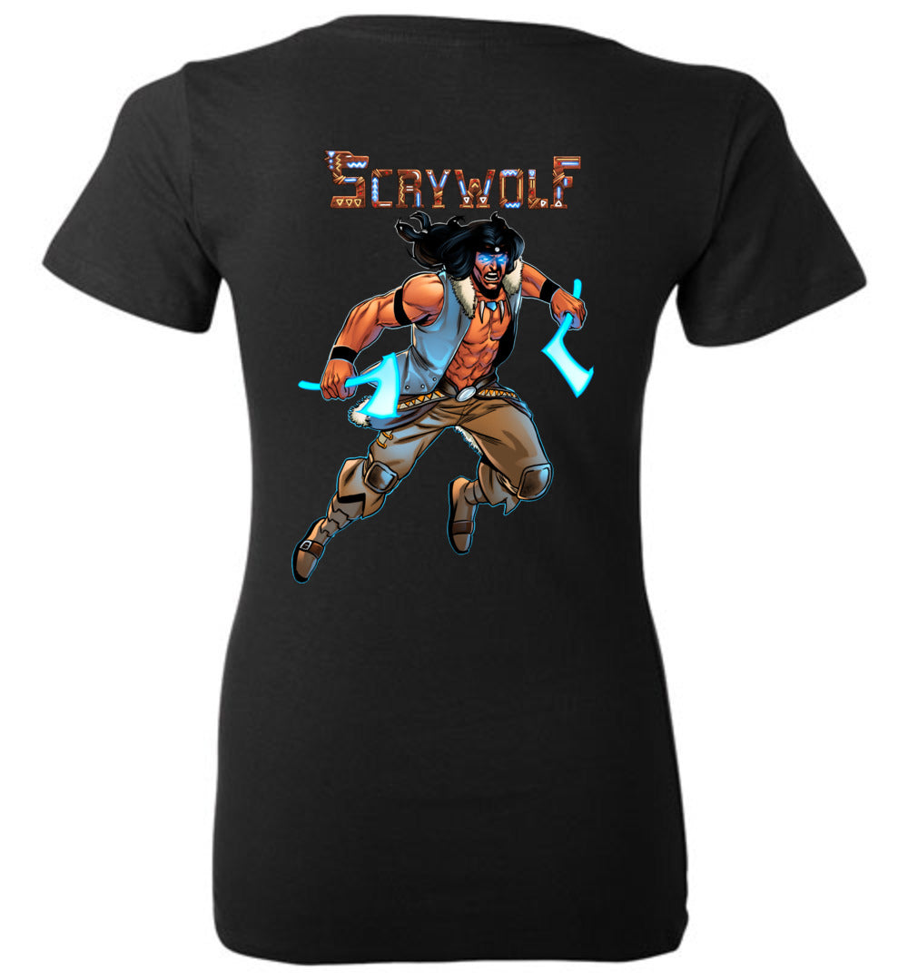 Capes & Chaos Scrywolf V-Neck (Womens)