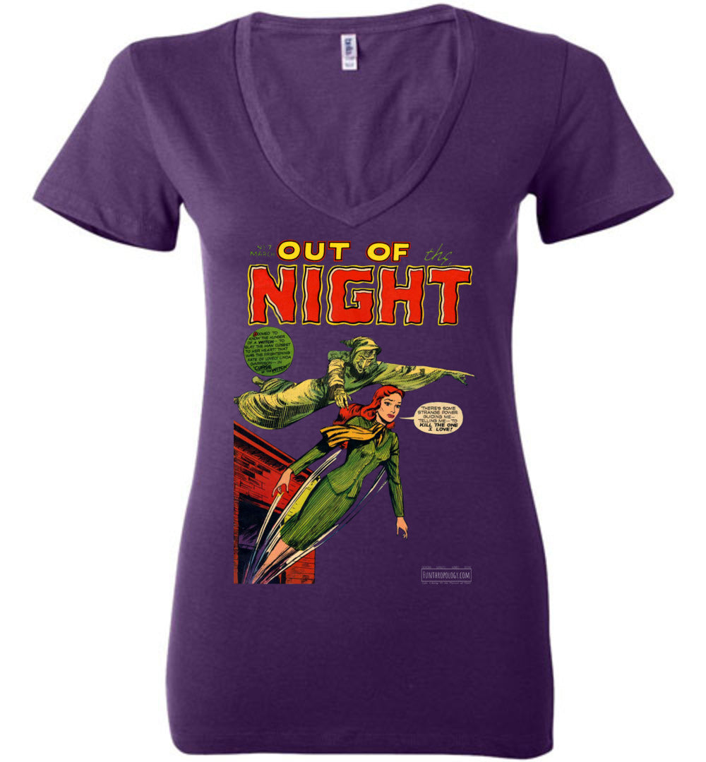 Out Of The Night No.7 V-Neck (Womens, Dark Colors)