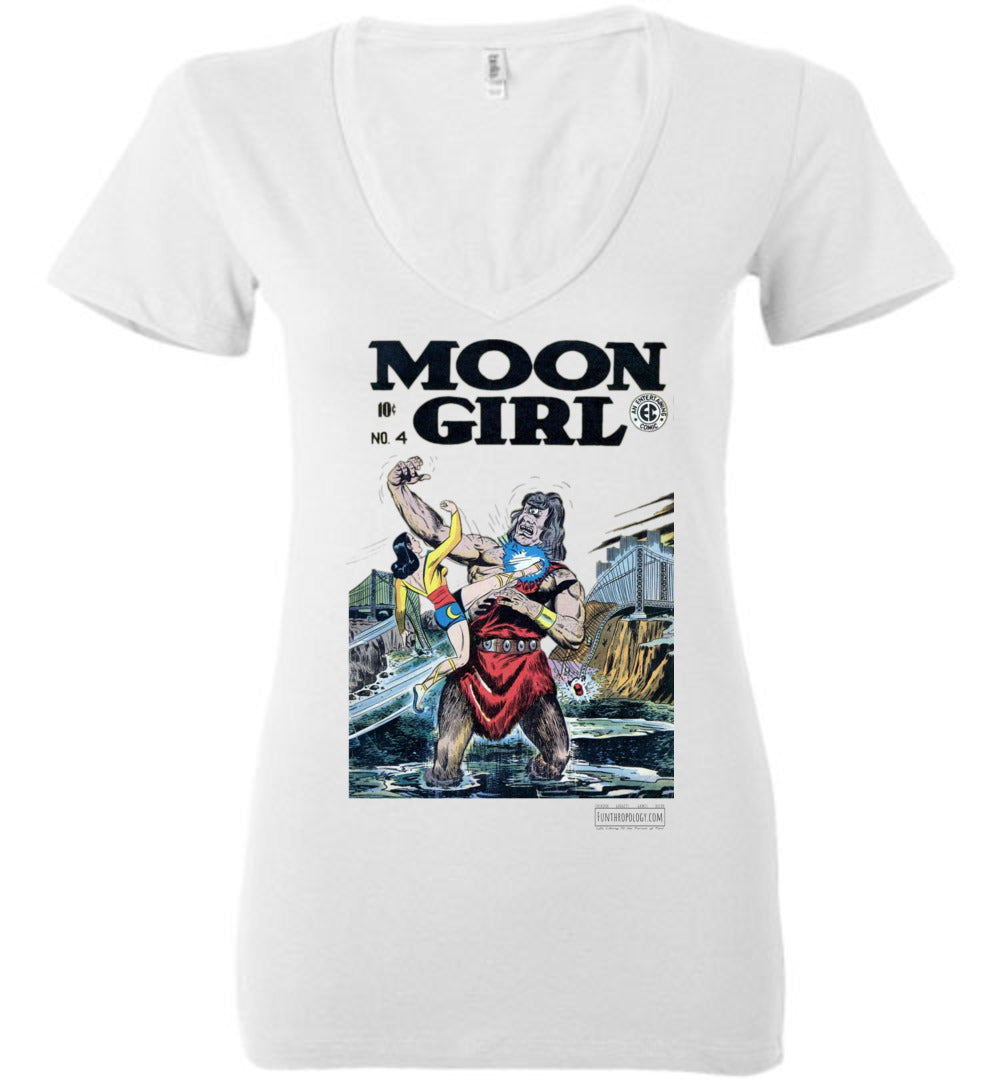 Moon Girl No.4 V-Neck (Womens, Light Colors)