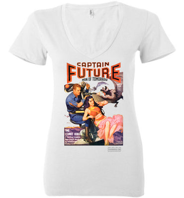 Captain Future No.11 V-Neck (Womens, Light Colors)