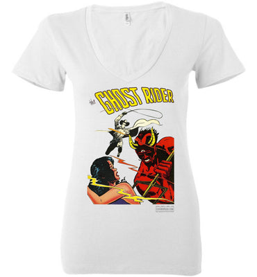 The Ghost Rider No.12 V-Neck (Womens, Light Colors)