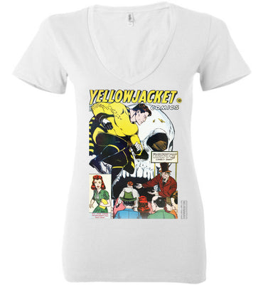 Yellowjacket No.7 V-Neck (Womens, Light Colors)