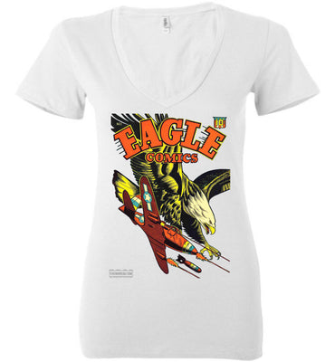 Eagle Comics No.1 V-Neck (Womens, Light Colors)