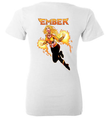 Capes & Chaos Ember V-Neck (Womens)