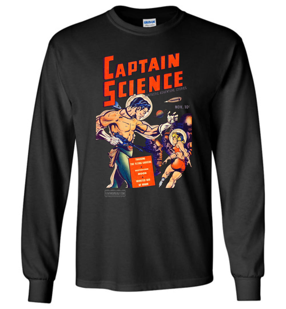 Captain Science No.1 Long Sleeve (Unisex, Dark Colors)