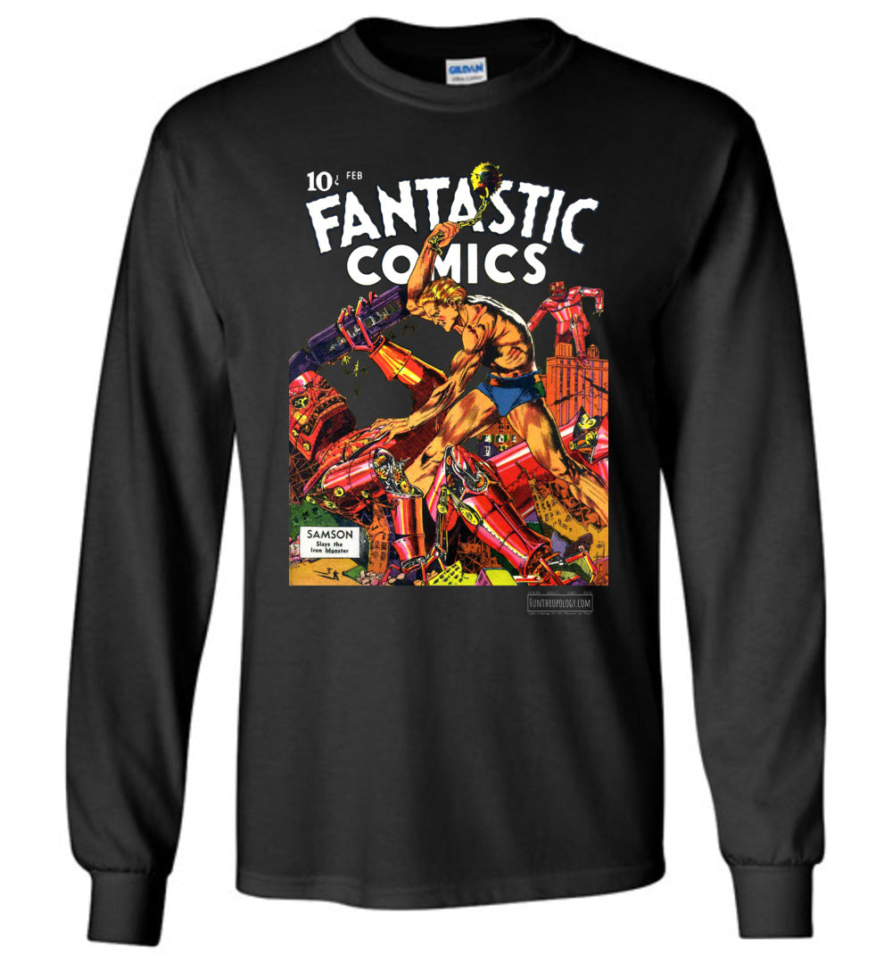 Fantastic Comics No.3 Long Sleeve (Unisex, Dark Colors)