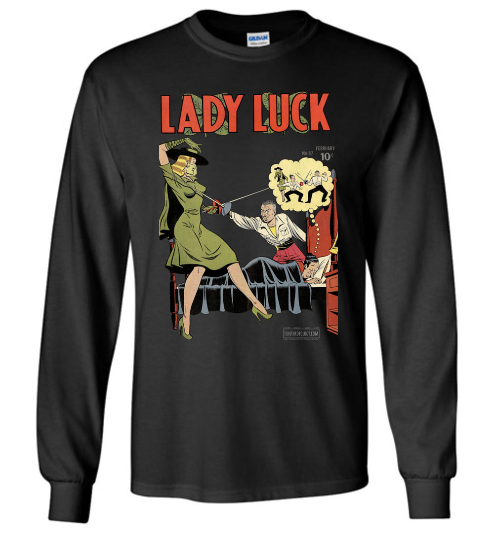 Lady Luck No.87 Long Sleeve (Unisex, Dark Colors)