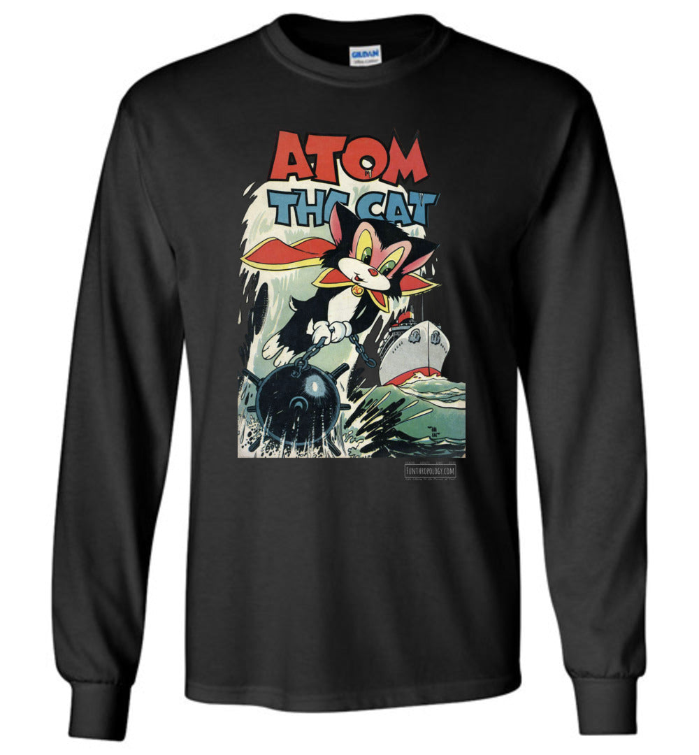Atom The Cat No.10 Long Sleeve (Unisex, Dark Colors)