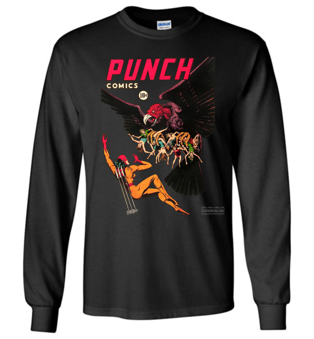 Punch Comics No.20 Long Sleeve (Unisex, Dark Colors)