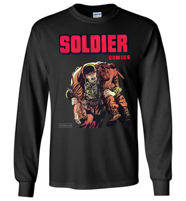 Soldier Comics No.10 Long Sleeve (Youth, Dark Colors)