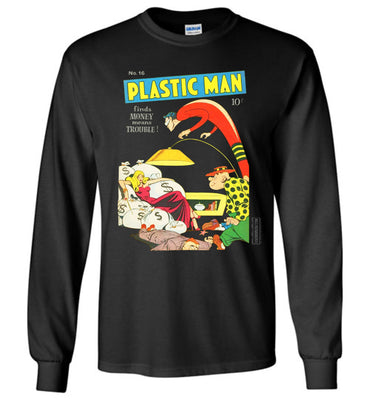 Plastic Man No.16 Long Sleeve (Unisex, Dark Colors)