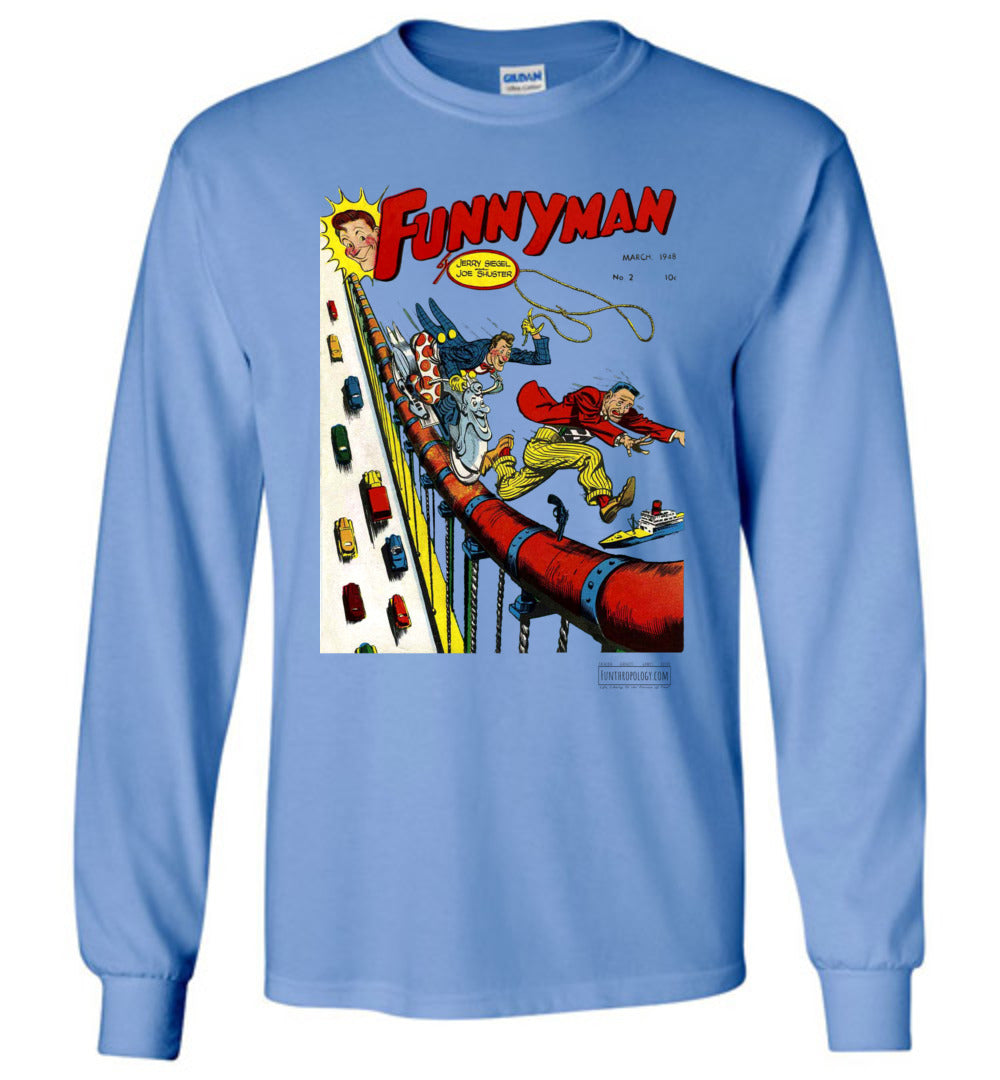 Funnyman No.2 Long Sleeve (Unisex, Light Colors)