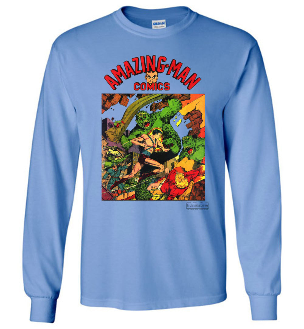 Amazing-Man Comics No.22 Long Sleeve (Unisex, Light Colors)