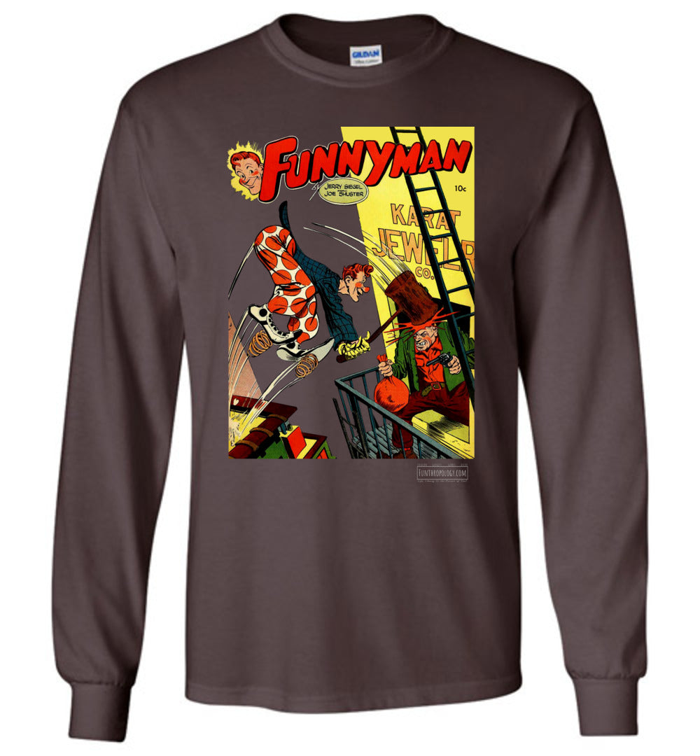 Funnyman No.3 Long Sleeve (Unisex, Dark Colors)